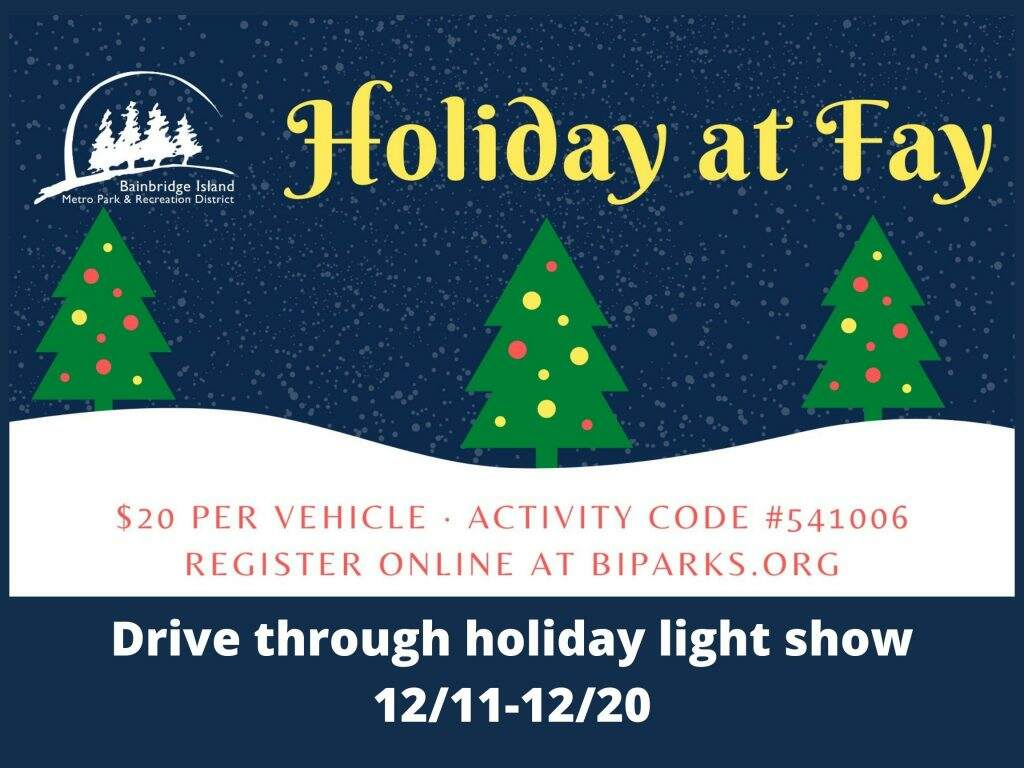 holiday lights in Kitsap County