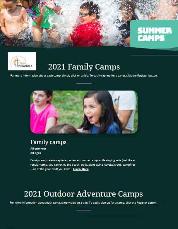 Camp Indianola 2021