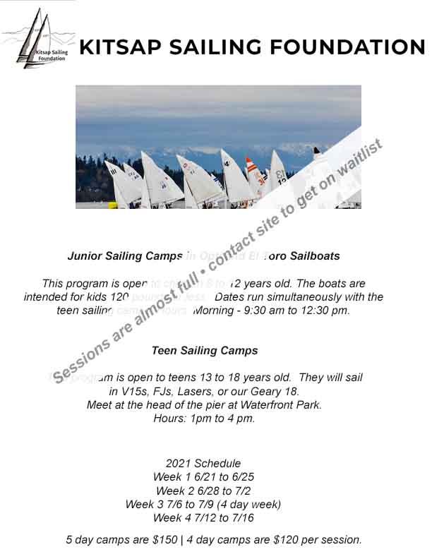 Kitsap Sailing Summer 2021
