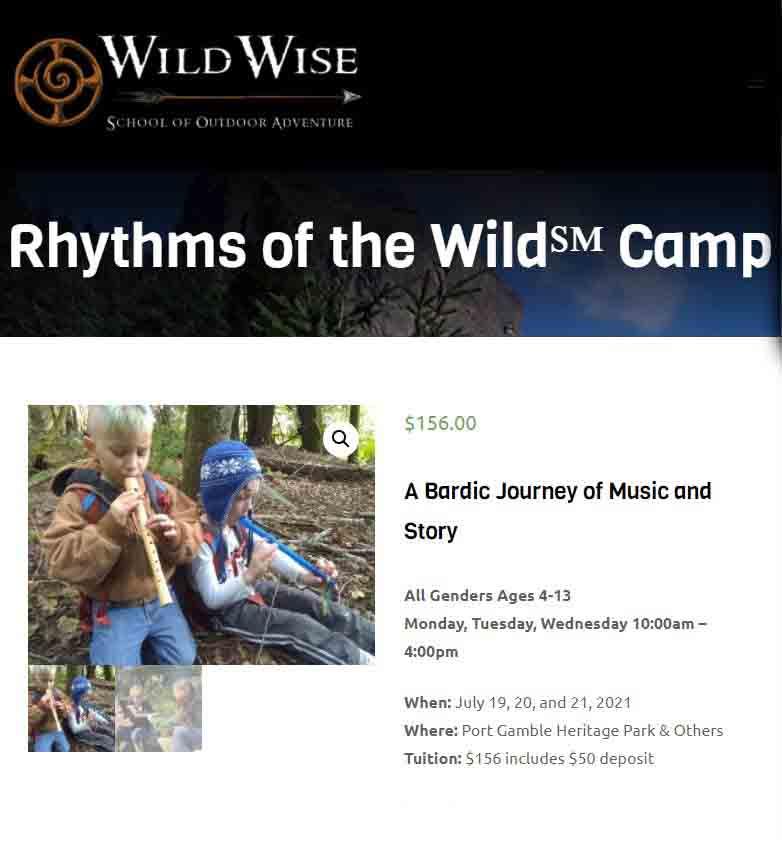 Wild Wise Rhythms Of The Wild Camp 2021