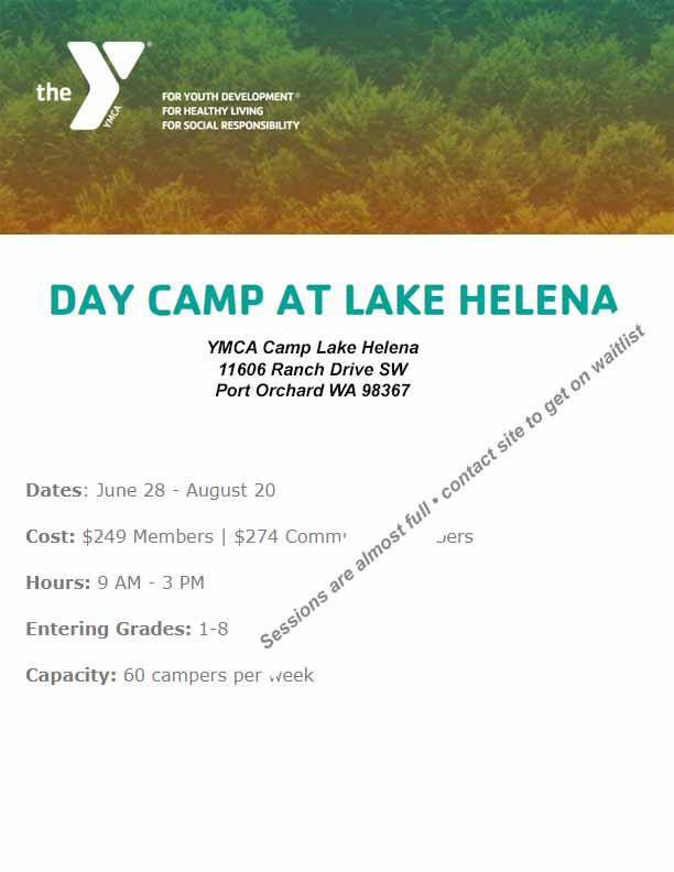 YMCA Day Camp At Lake Helena 2021
