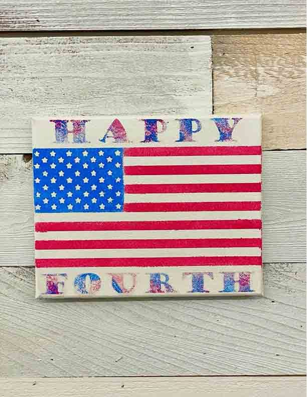 Handmade With Love Flag Painting 2021