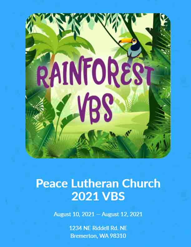 Peace Lutheran VBS 2021