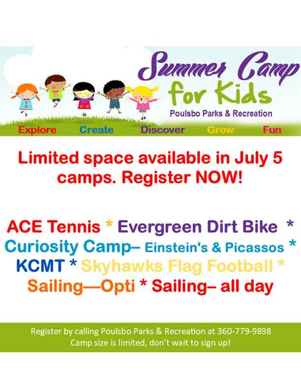 Poulsbo Parks And REc Summer Camps 2021
