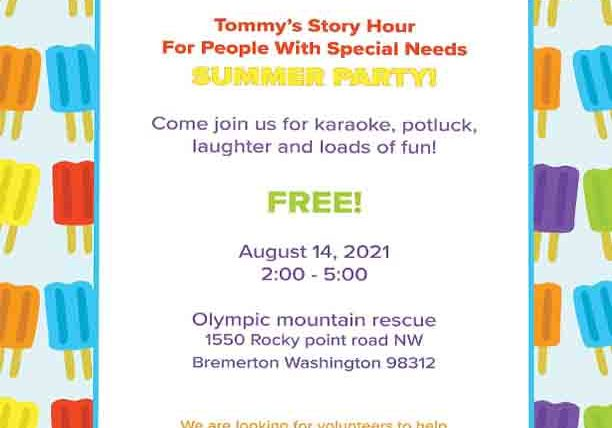 Tommys Story Hour Summer Party 2021
