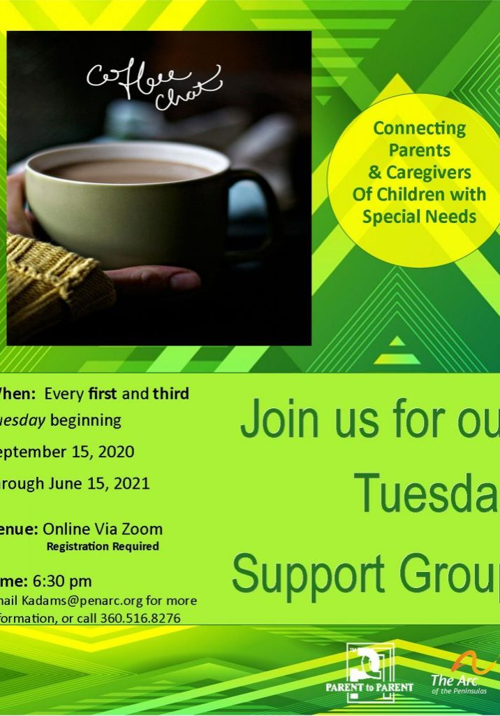 1st and 3rd Tuesday Parent Support group